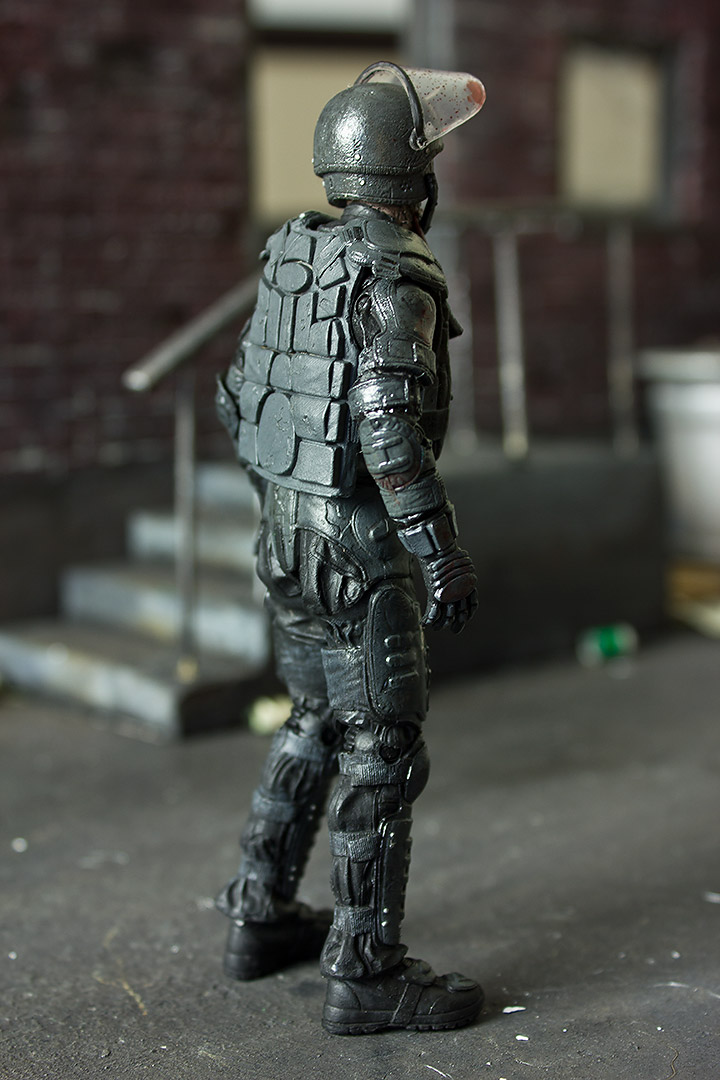 Riot Gear Zombie Action Figure