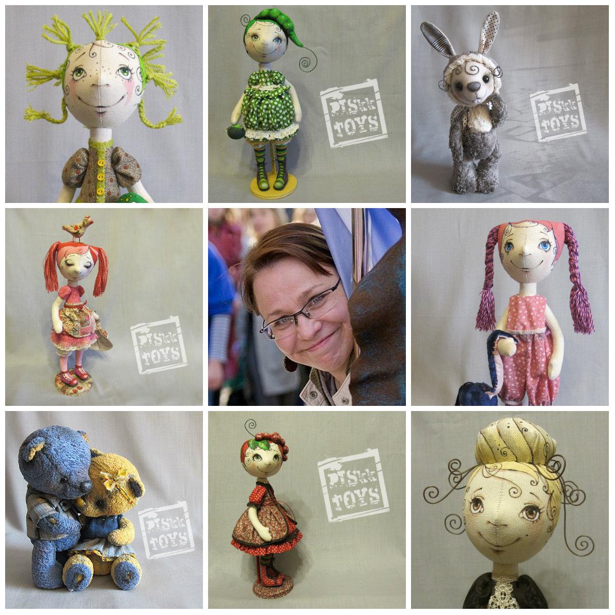 Текстильные куклы Анастасии Пискуновой