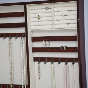 Cool and Beautiful Wall Photo Frame in Wooden Jewelry Armoire 2