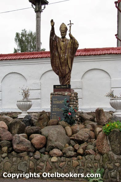 Statue of the late Pope John Paul II  in Mosar - Belarus