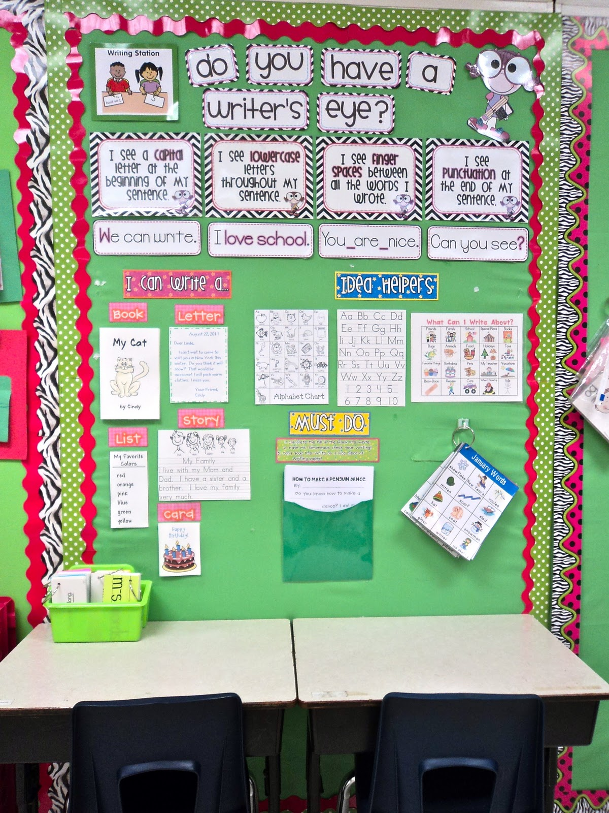 Classroom Writing Ideas : First grade fresh workstation revamp silly sentences