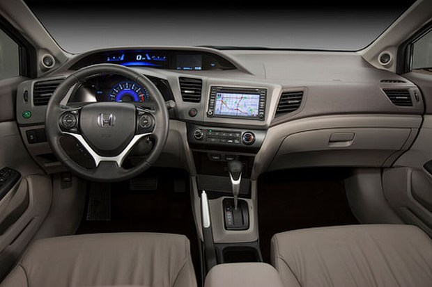 Honda introduced the U.S. Civic Sedan and coupe 2012 interior