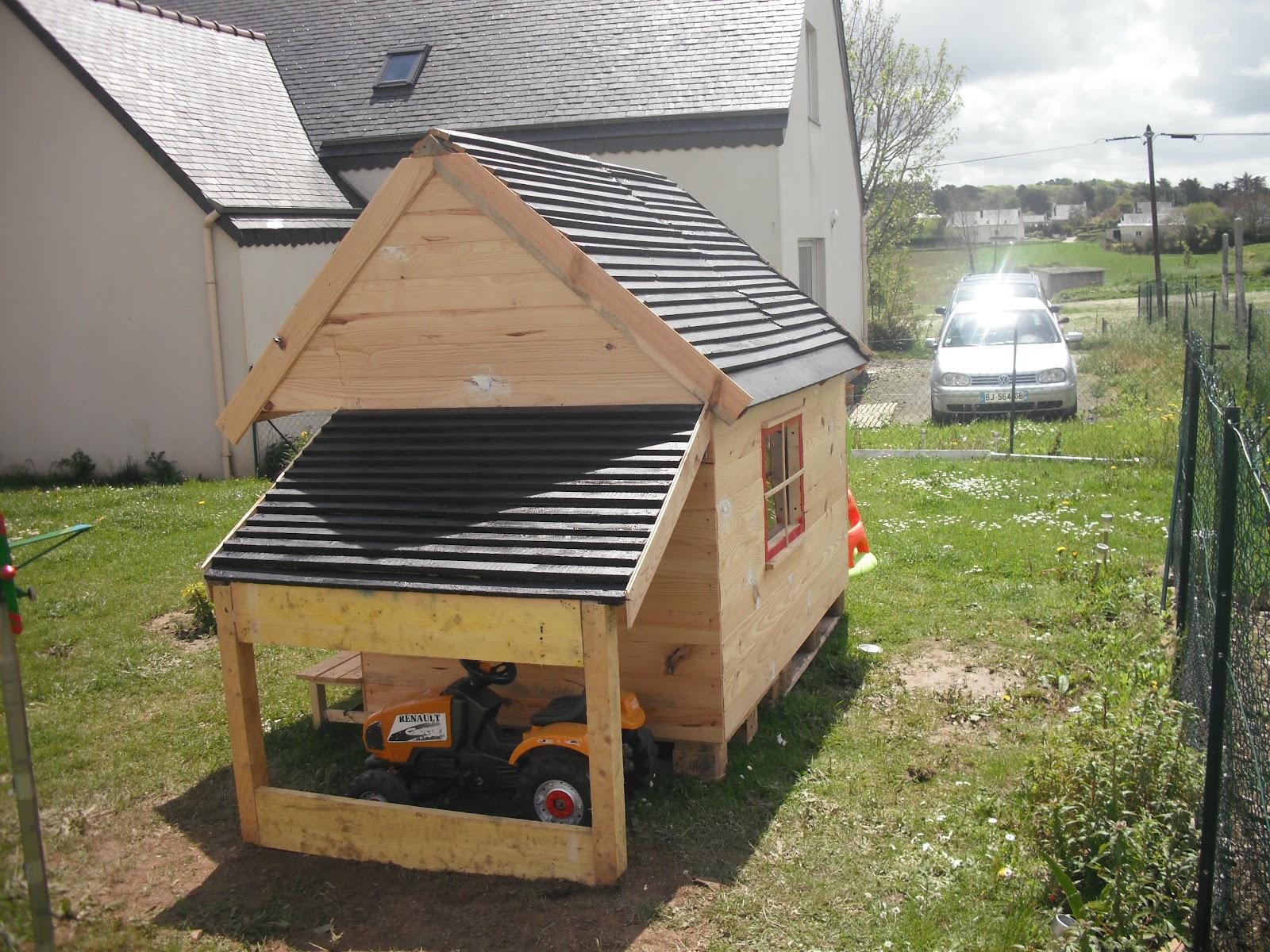 Mes fabrications construction d 39 une cabane en bois pour - Dimensions d une palette europe ...