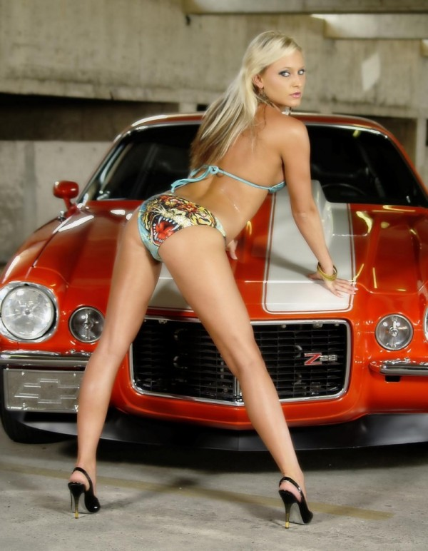 nude babes on sports cars