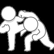 戦う棒人間のイラスト