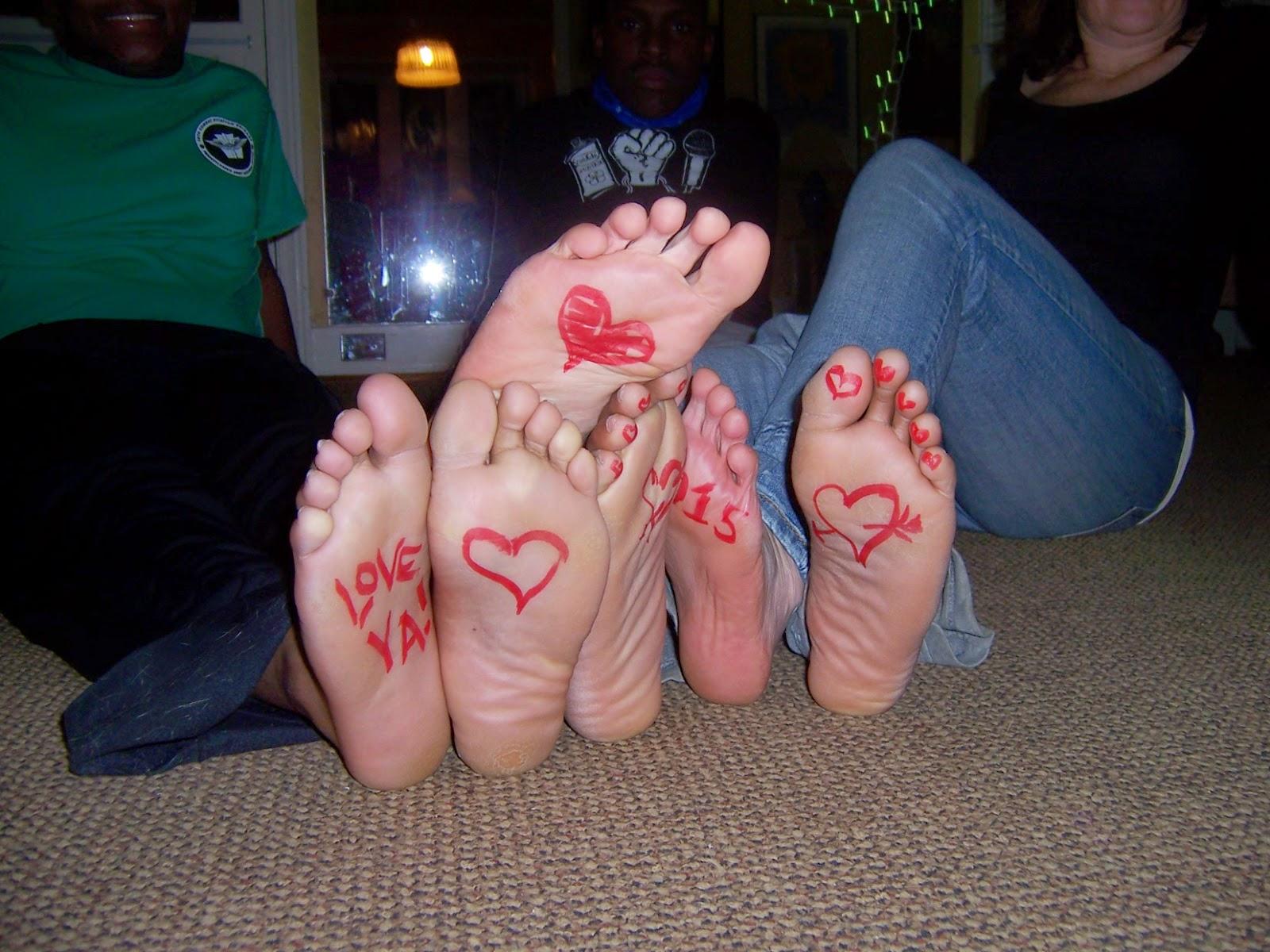 Mom son foot fetish