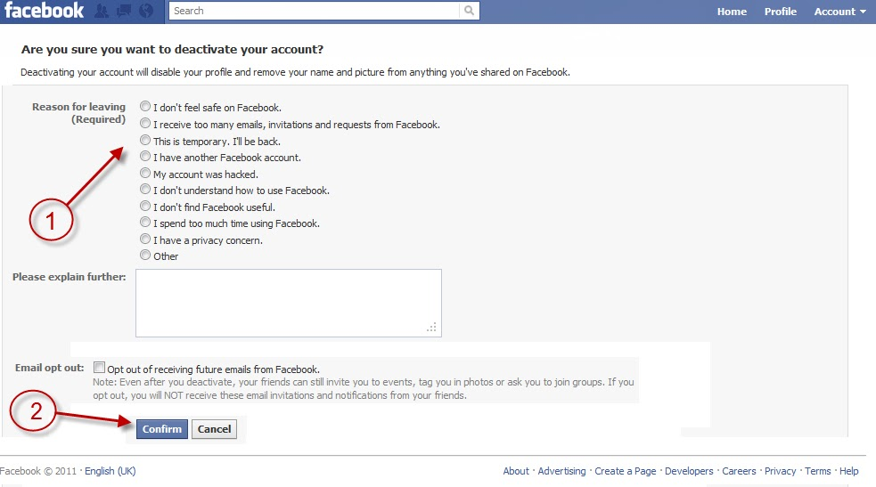how to delete facebook fan page