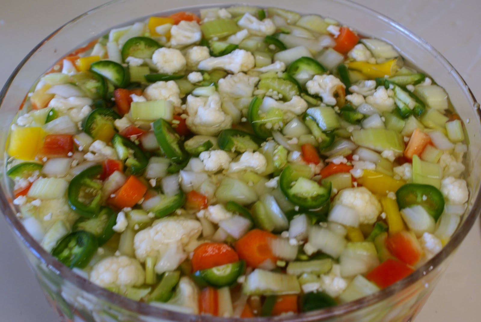 The Hungry Lovers: Giardiniera (Italian Pickled Vegetables)