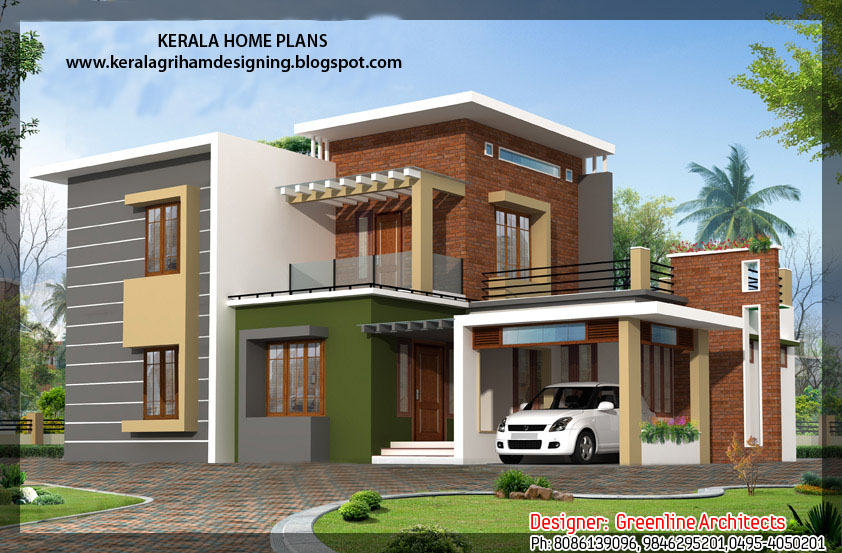 NEW SQUARE HOUSE DESIGN - KERALA HOME PLANS