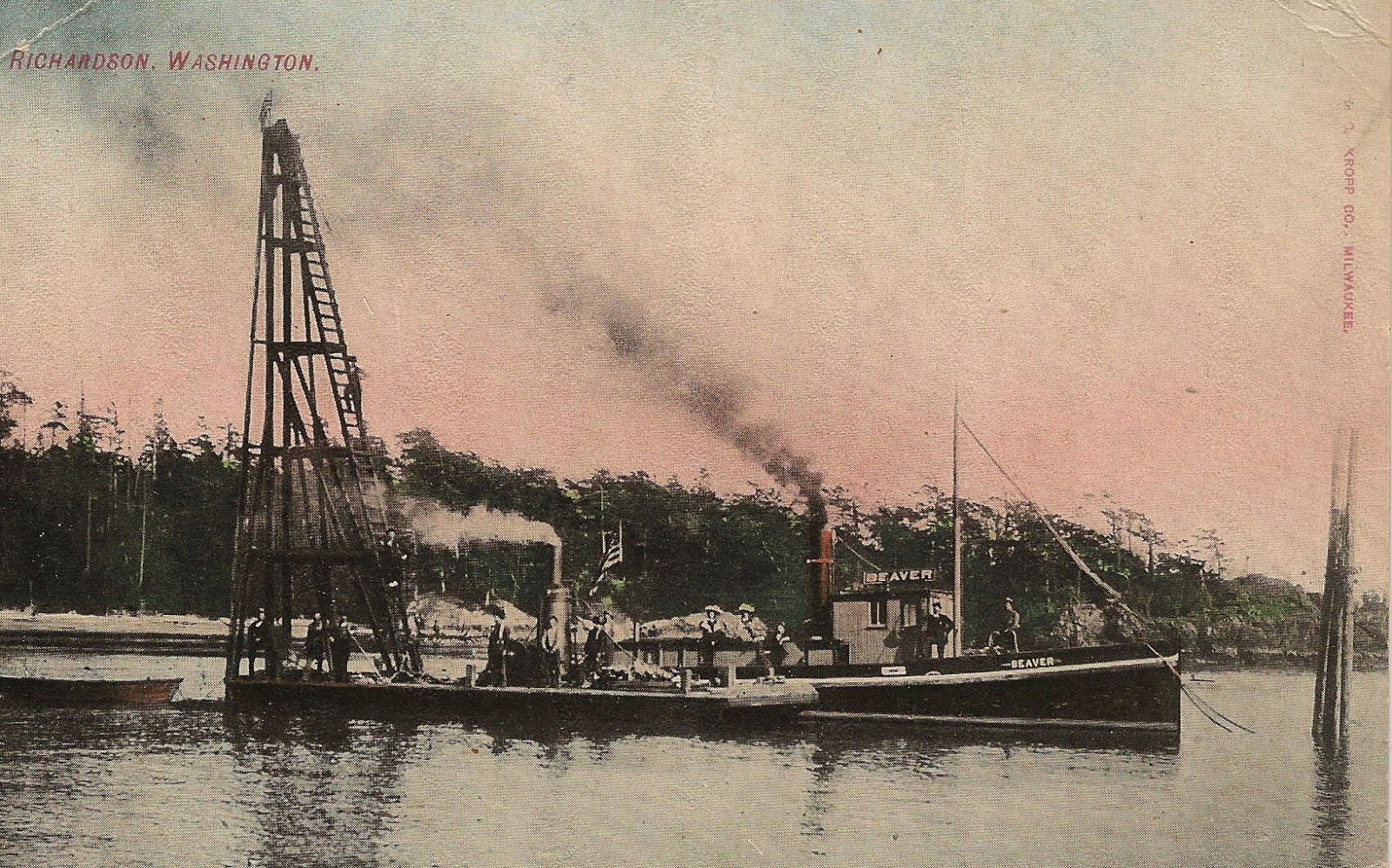 The Beaver She Tended The First Steam Pile Driver In Sjc In 1894 Pile  Driver Was Owned By Kinleyside, Richardson, Lopez