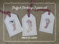 Stuffed Stockings Pattern 3 Piece Set $4.00