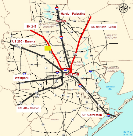 The Overhead Wire Off The Line In Houston - Us map of commuter railroads