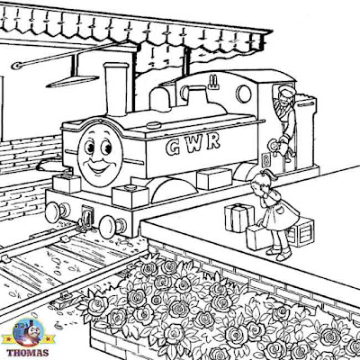 GWR Duck the Tank engine free coloring Thomas the train pictures printable worksheets for kids art