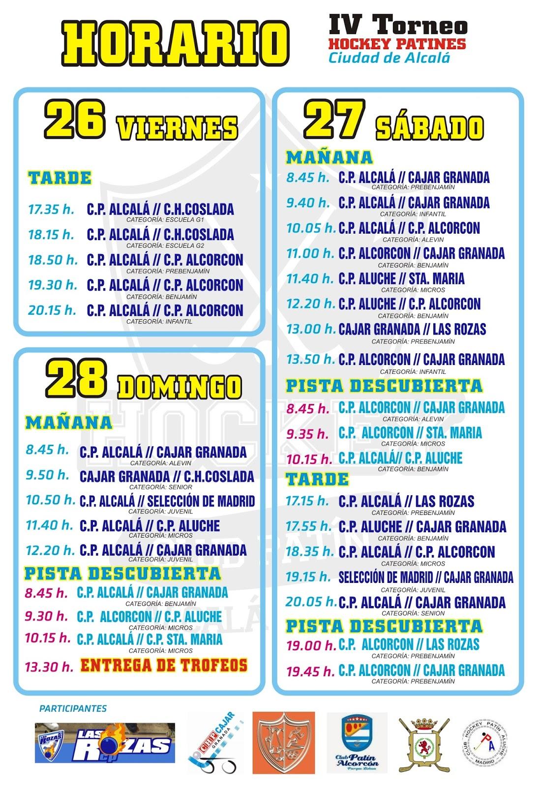 Club Pat N Alcal Hockey Cambio De Horario