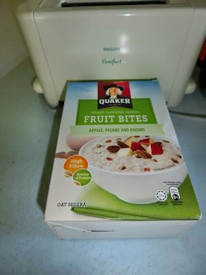 Sarapan yang simple bersama Quaker Oat .... fruit bites tastylicious ...