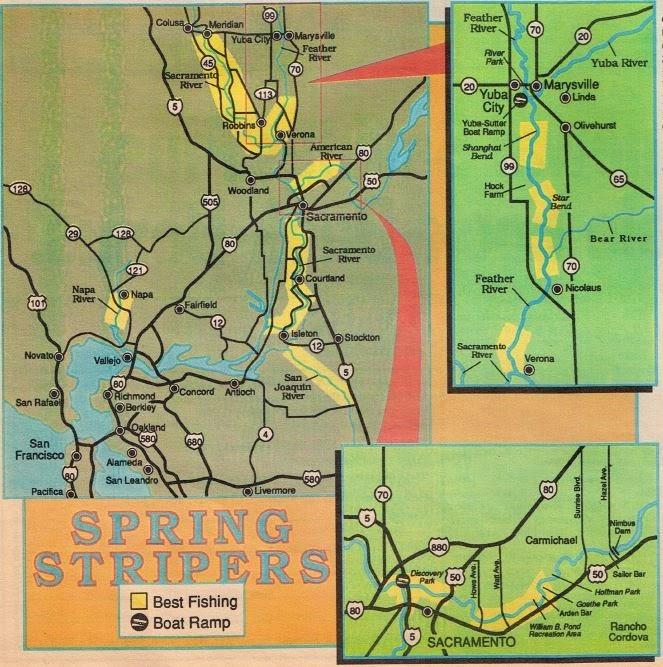 Fishing california and 2017 fishing maps fishing report for Ca delta fishing report