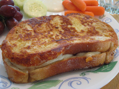 French_Toasted Ham & Cheese