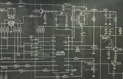ZX Spectrum circuit schematic diagram by Simon Patterson