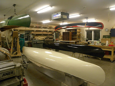 Boats in various stages of restoration
