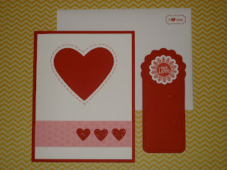 fresh crafts blog: Stampin' Up Valentine's Card