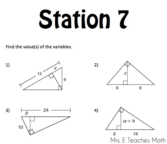 Right Triangles Unit – 45 45 90 Triangle Worksheet
