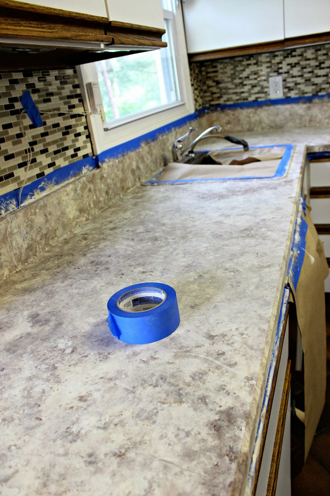 Sealing Painted Countertops How To Paint Your Countertops Days Of Chalk And Chocolate