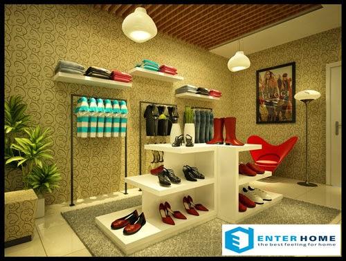 Thi công nội thất shop cửa hàng quần áo