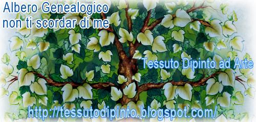 Non ti scordar di me albero genealogico su tenda ricamata for Chioma albero