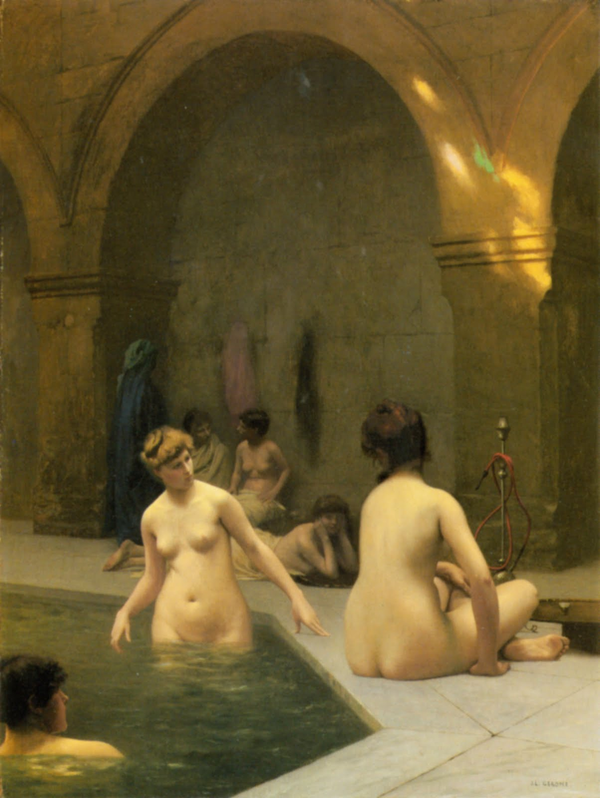gérôme painting bathers