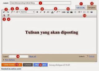 tool menu posting