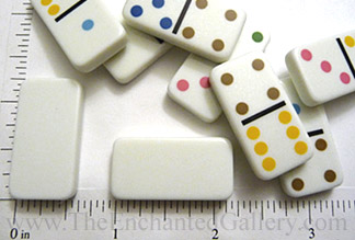 The Enchanted Gallery: Miniature Domino Game Tiles and Drilling ...