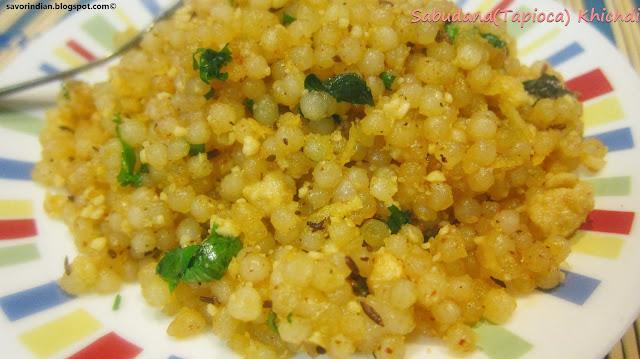 sabudana (tapioca/sago) khichdi recipe
