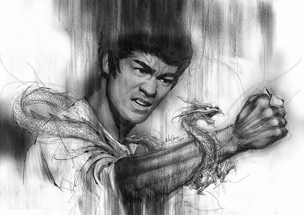yellowmenace art bruce lee the dragon immortalized