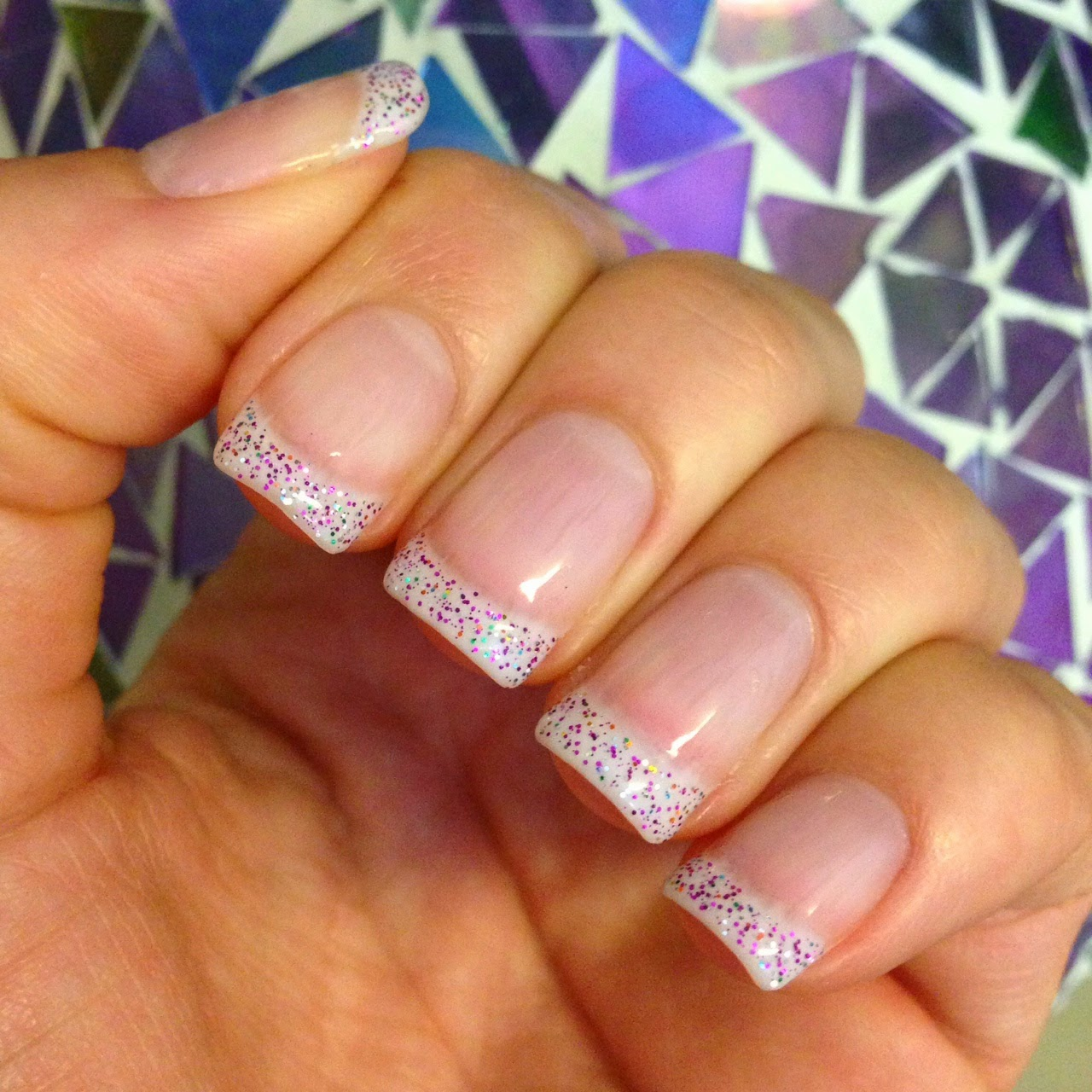 Glitter French Tip Nails, Sparkle Tips, OPI Gel Nails, OPI Gel French Tip, Natural Nails French Tip
