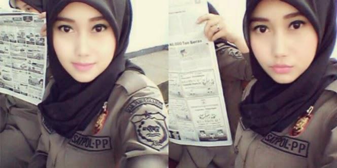 Foto Satpol PP Cantik Berkerudung Nurul Habibah