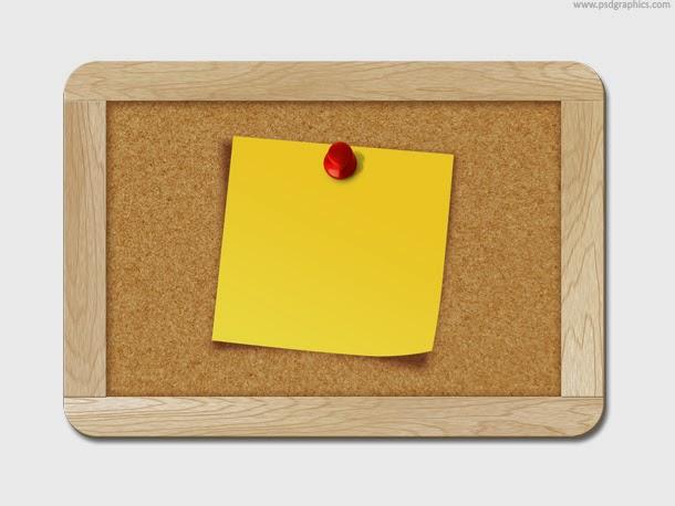 Blank Note Pinned to Corkboard
