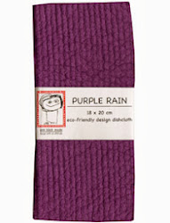 purple rain dishcloth