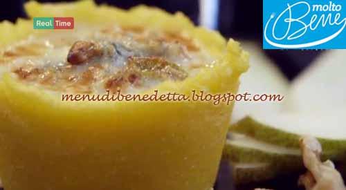 Cestini di polenta con gorgonzola pere e noci ricetta Parodi per Molto Bene