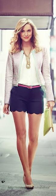 street style: elegant in shorts