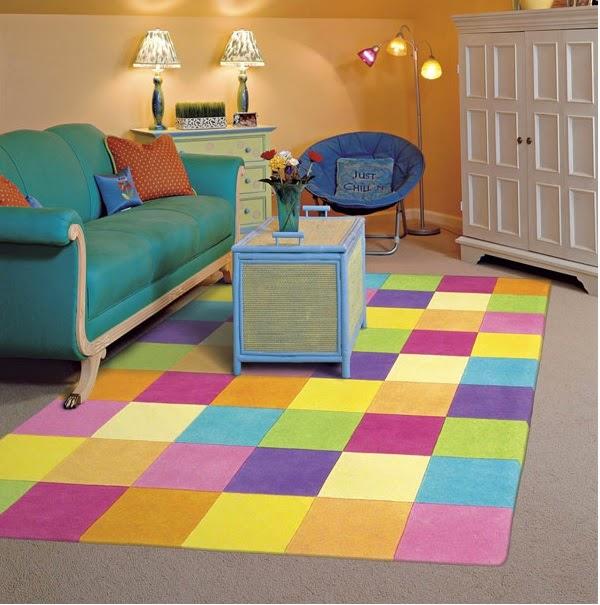 karpet warna warni