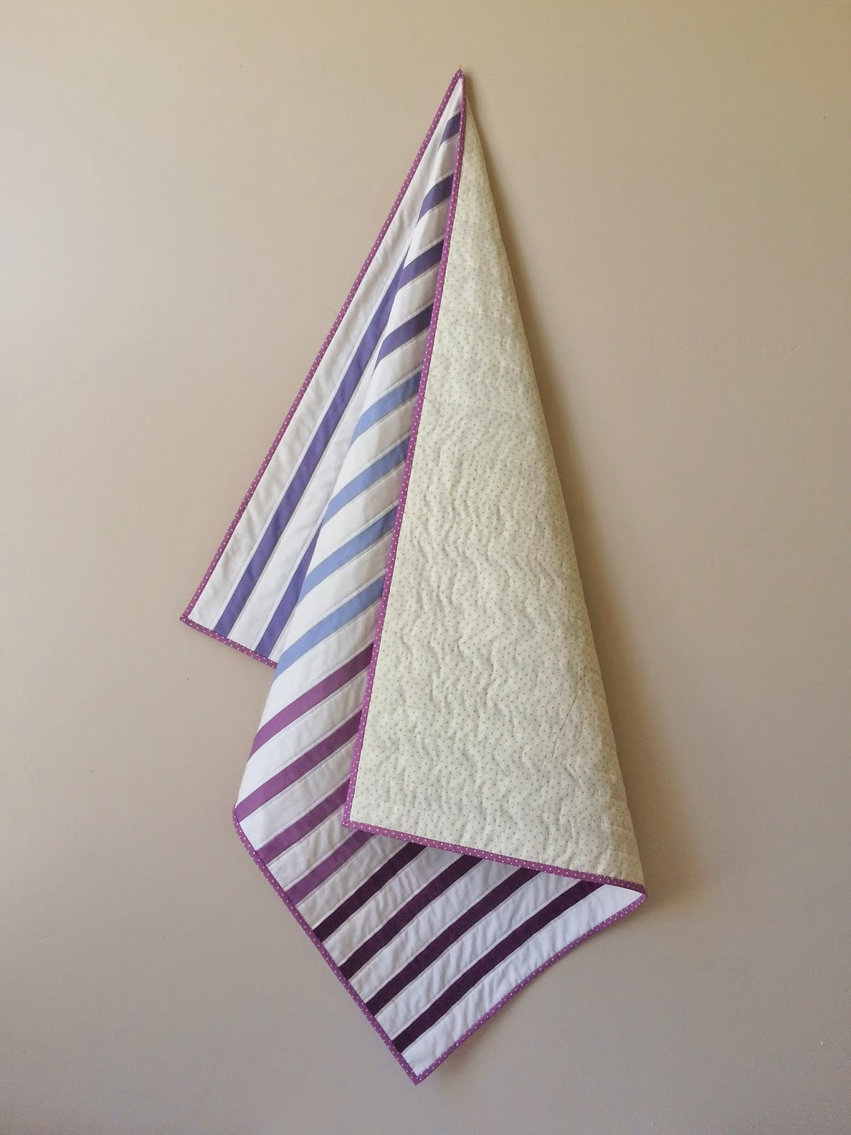 Radiant Orchid Gradient Striped Modern Baby Quilt