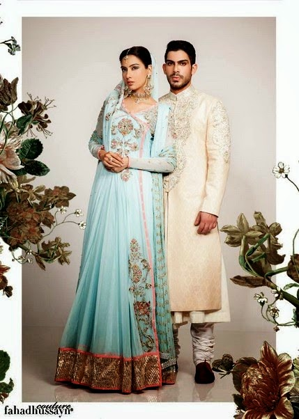 Attractive Groom and Bridal Dress by Fahad Hussayn