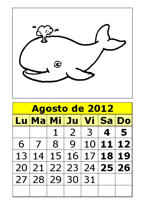 Calendario de animales para colorear de 2012 (3ª parte ...