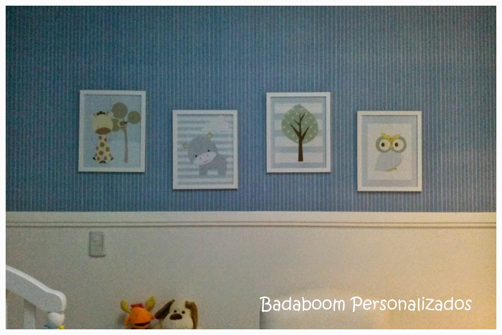 Print, quarto, infantil, safari,quadrinhos