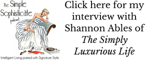 Listen to my interview on The Simple Sophisticate podcast