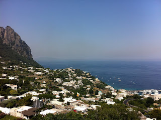 The view from the top of the Island of Capri.