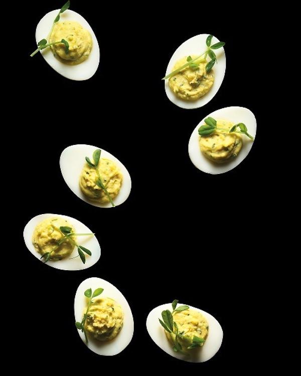 Wasabi Deviled Eggs by Martha Stewart Living!