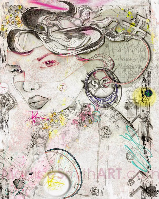 Digital Illustration by mixed media artist Martice Smith II