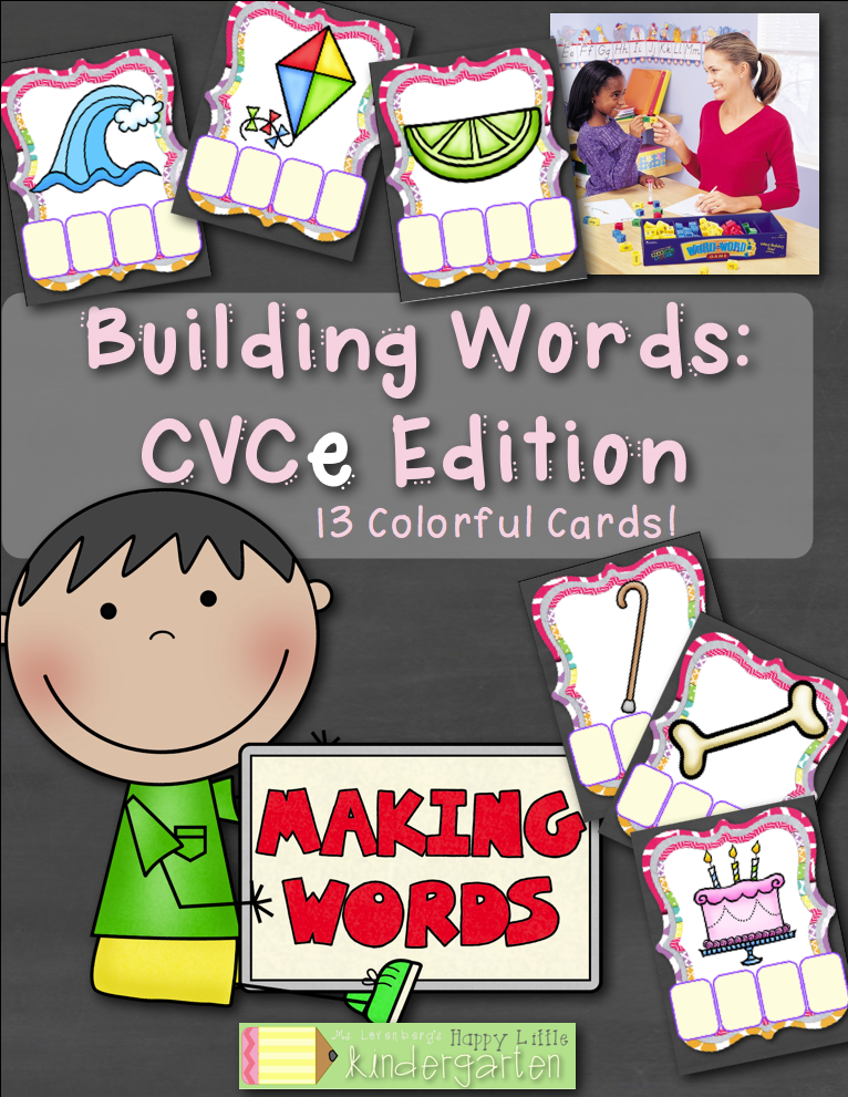 http://www.teacherspayteachers.com/Product/Building-Words-CVCe-Edition-Interactive-and-FUN-Word-Work-Center-1346722