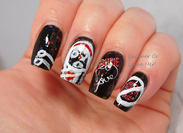 zombie love manicure with native war paints extra crispy walkers and uberchic beauty zombie love and marriage plates
